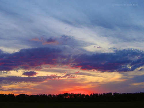 Midsummer prairie sunset - nearly midnight - Alberta - Canada [synmirror 2006]