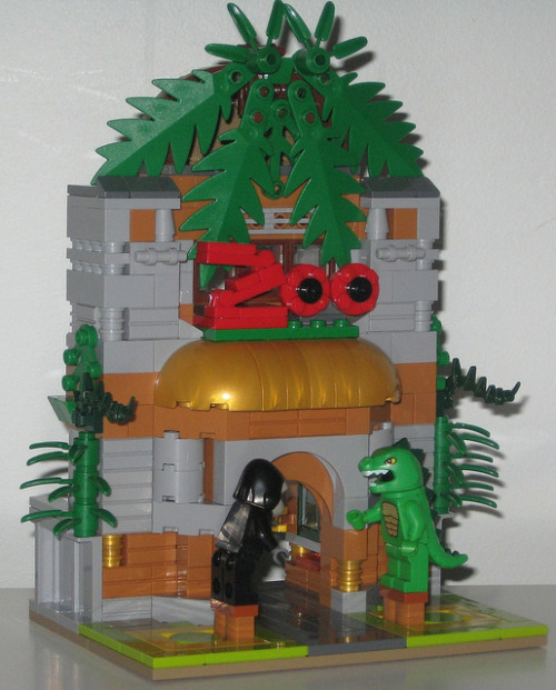 adventuresinlego:  Day 82 - The Cuusoo Zoo Entance on Flickr.