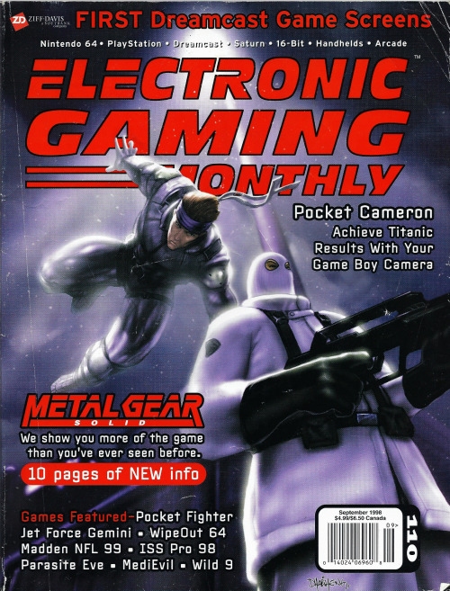oldgamemags:  Electronic Gaming Monthly Issue #110, September 1998 — The awesome Metal Gear Solid Cover!