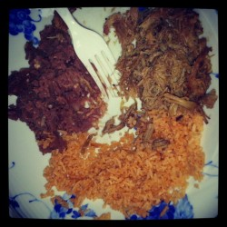 Homemade #Carnitas and #rice.  #yum