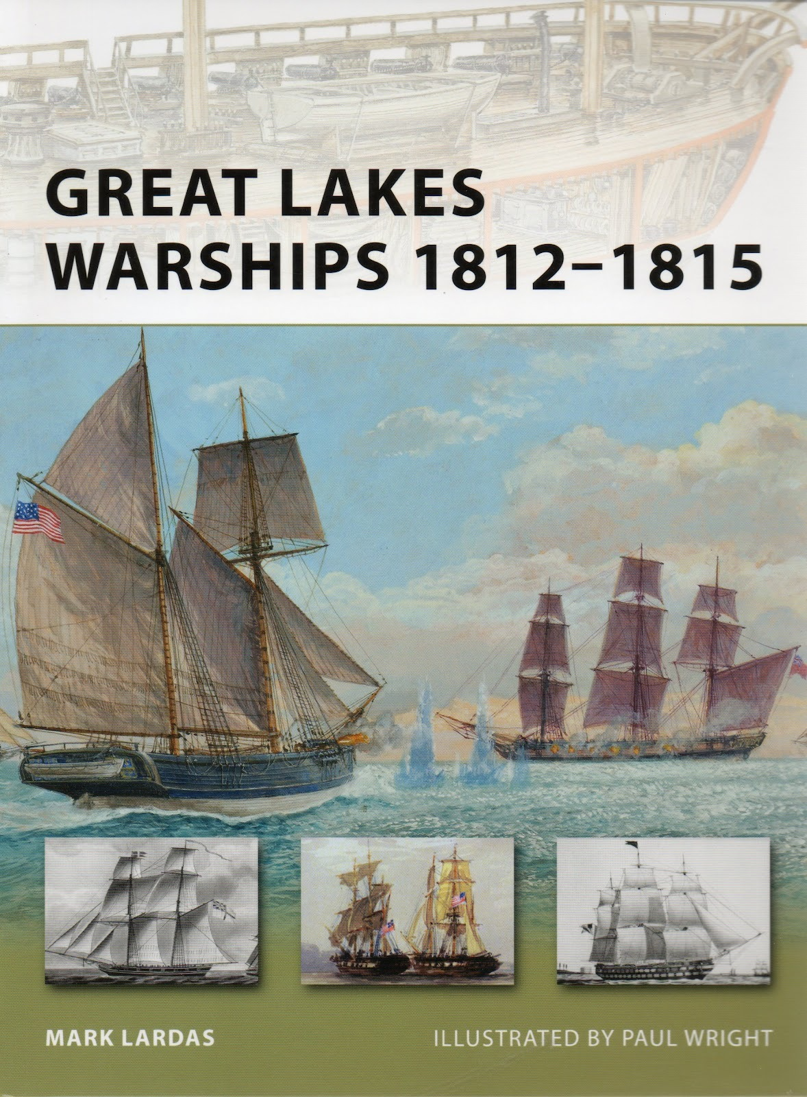 BOOK REVIEW – Great Lakes Warships, 1812-1815 By Mark Lardas, Osprey Publishing, Oxford, United Kingdom (2010) Reviewed by Diana L. Ahmad, Ph.D. For a book of only forty-eight pages, this publication provides an excellent overview of the Great Lakes ships of the War of 1812. An amateur historian, the author, Mark Lardas, trained as a Naval Architecture and Marine Engineer, but worked at the Johnson Space Center for a time. Lardas devotes as much time to describing the vessels as he does to explaining the battles in which the ships participated. (read the full review)