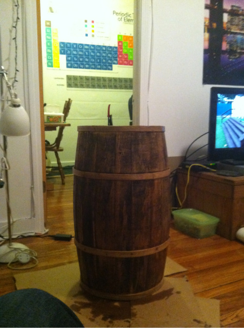 Finished product (bar stool)
