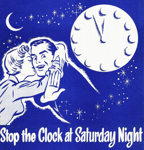 rogerwilkerson:  Stop the Clock at Saturday Night - detail from 1956 sheet music of the same name.