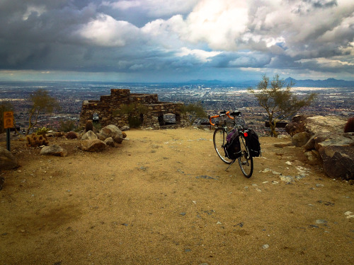 Biked to the top of South Mountain!