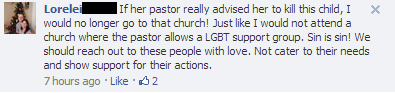 antichoicescreencraps:  An anti-choicer condemns churches that support the LGBT community.  AAAAGGGGHHHH FUCK RAAAAAAAAAAAAAAAAGE