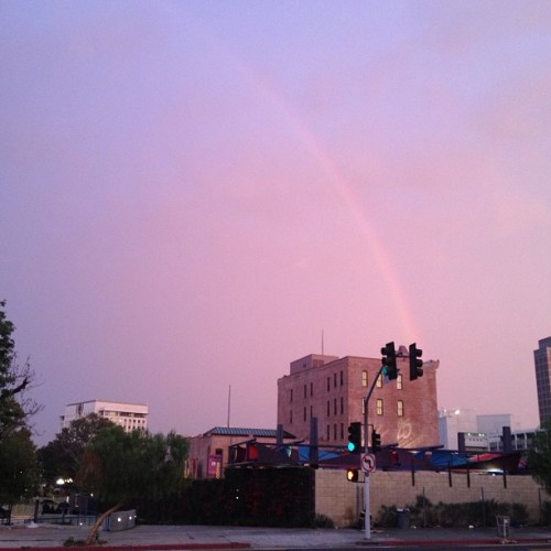 Last week's #rainbow #losangeles #downtown