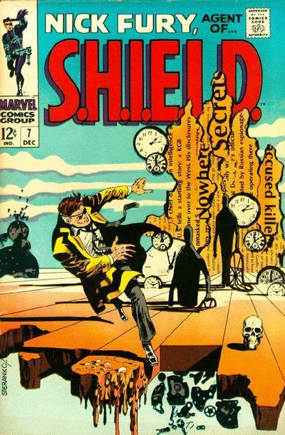 Cover of Nick Fury, Agent of S.H.I.E.L.D. by Jim Steranko. December 1968.