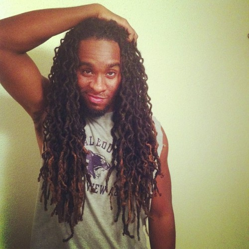 damgoodjob:  Results of a braidout… #locs #locnation #lion #dreads #menwithlocs #hairlong