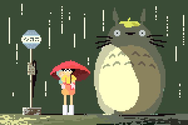 xombiedirge:  8-Bit Ghibli Series byRichard J. Evans