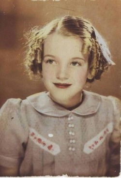 Marilyn Monroe as a child.