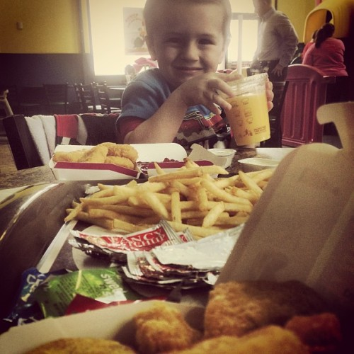 Nuggets and Gabriel. :) #gabriel #mcdonalds #nuggets #food #kiddo