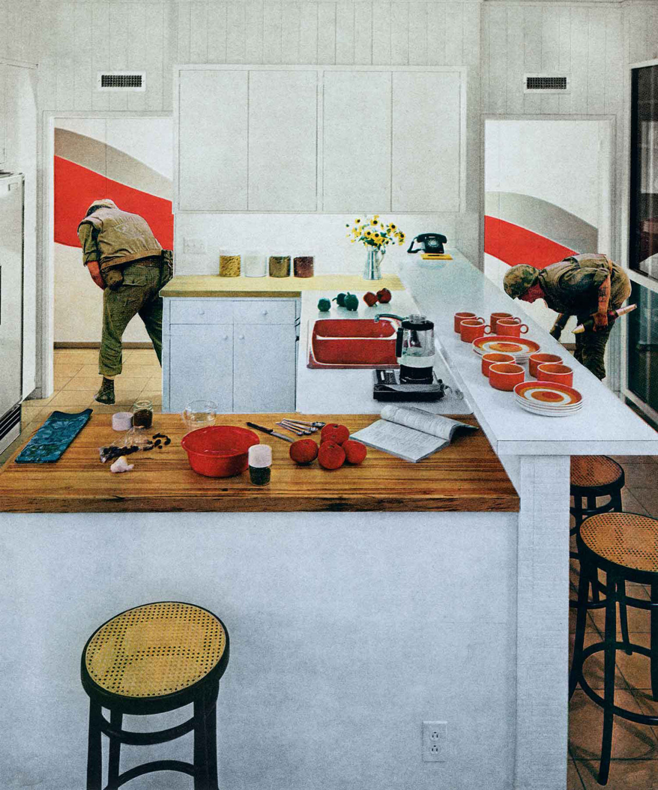 Martha RoslerRed Stripe Kitchen  1967-1972 From the series Bringing the War Home: House Beautiful