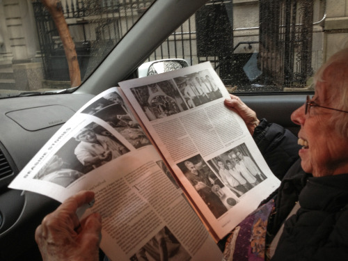 My Grandmother, Elaine Sorel, reading recent issue I did with Lindsey Catherine Cornum.   Here is the link: http://www.brooklynrail.org/2013/03/local/seaside-stories-March13