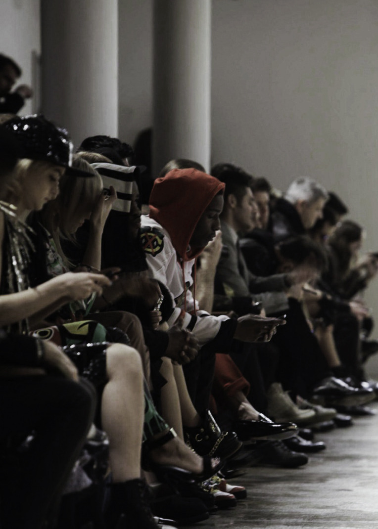 Front row at Jeremy Scott Fall/Winter 2013
