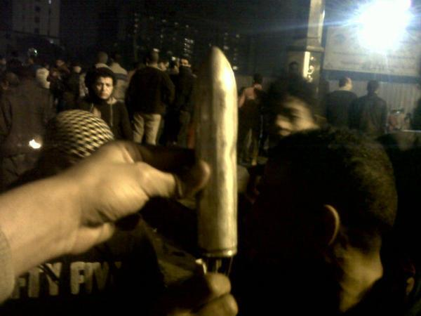 anarcho-queer:  Evidence of police shooting rockets at protesters in Cairo, Egypt.