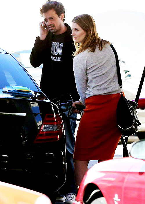 Stop at a gas station in Studio City - January 15, 2013.