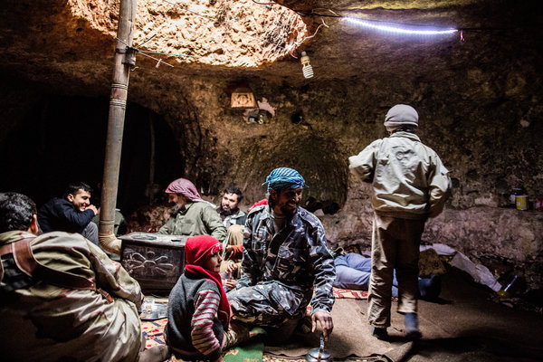 "Syrians, Fleeing Home, Crowd in Roman Caves ""There is not a vacant cave,"" Mr. Darwish said as he huddled with several children inside.  Read: NY Times"