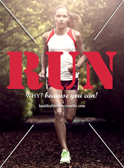 "livingafitlife:  my-healthiest-year:  This is so important. I was never a runner. I hated running. I was one of those people who only ran ""if a bear was chasing me"". Then I got MS. Now I can't run. Physically can't. I don't have the balance required. My muscles can't move fast enough. I have foot drop, which means I trip over my own toes while walking, much less running. My muscles can't react fast enough to cushion the blows of the foot strikes - try running without bending your knees and you'll see what I mean. I often say that if I magically gained back the ability to run, I'd go full-tilt until I collapse. I can't run with my daughter, and that kills me. So if you can run, do. You never know when you won't be able to ever again.  Reblogging for this message."