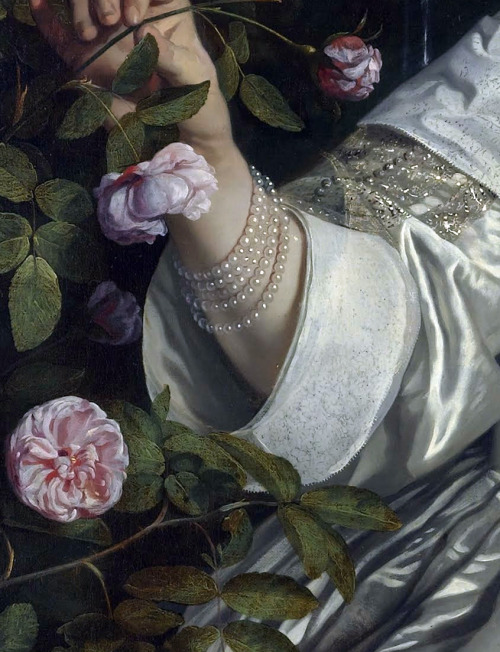 c0ssette:  Abraham del Court and his wife Maria de Kaersgieter,detail,1654,Bartholomeus van der Helst.