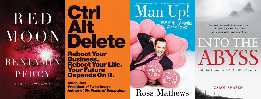Congratulations to these four titles that made Amazon's Best Books of the Month for May 2013! Top 10 Best Books of the MonthRED MOON by Benjamin Percy Best Books of the Month: Business & Leadership CTRL ALT DELETE by Mitch Joel Best Books of the Month: Humor & Entertainment MAN UP! By Ross Mathews Best Books of the Month: Nonfiction INTO THE ABYSS by Carol Shaben