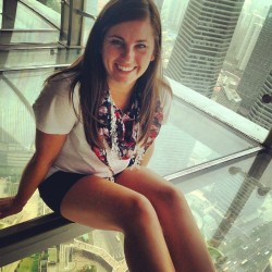 Glass floors at the 267th floor of the oriental pearl tower! #shanghai #china #hollandfellows #imkindascaredofheights