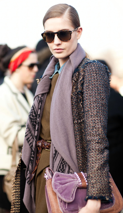 @NadjaBender @nathaliemodels @newyorkmodels after Chloé FW13 Paris. She is currently in the SS13 campaign with Caroline Brasch Nielsen, Tilda Lindstam, and Rosie Tapner.