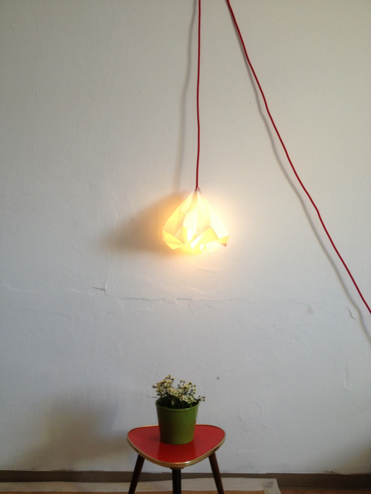 Elsie - My folded paper lamp. (2012)