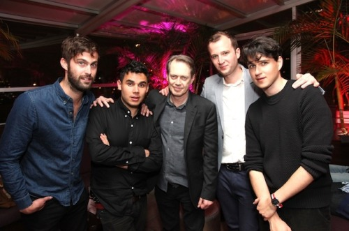 Vampire Weekend and Steve Buscemi attend the after-party for Vampire Weekend's performance in the 'American Express Unstaged' music series at Empire Hotel on April 28, 2013 in New York City. (Photo by Donald Bowers/Getty Images for American Express)