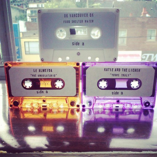 New Lost Sound Tapes releases out on Saturday! Ok Vancouver OK, Katie And The Lichen, and Le Almeida. lostsoundtapes.com