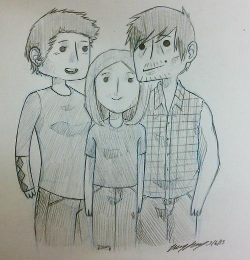 moose-sketchbook:  The Dixon family :)