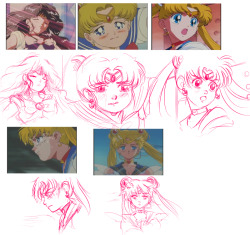 Frizzy said I should do some Sailor Moon screencap redraws, so I decided to sketch a few as a warmup today. I might clean them up later but I don't know if I'll have the time! ¯\_(ツ)_/¯