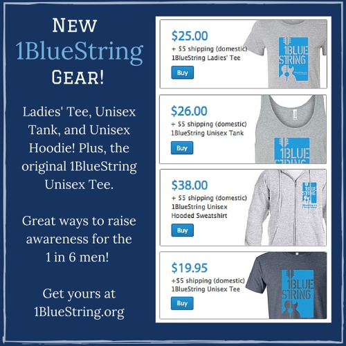1bluestring:  New 1BlueString gear, now available at 1BlueString.org!