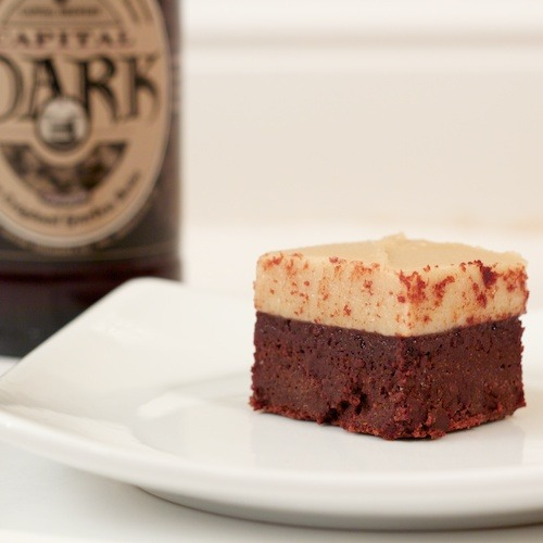 bakeddd:  stout brownies with butterscotch frosting click here for recipe