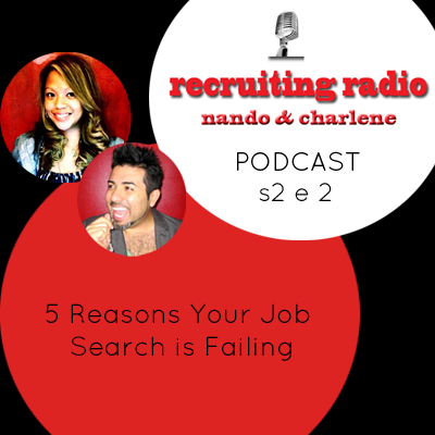 nyccareerzone:  S2 E2 5 Reasons Your Job Search is Failing Nando, a social media recruiter + Charlene, an advertising industry recruiter, give you tips, techniques and insights for acing the interview + starting a new career. http://nyccareerzone.tumblr.com/ This week, we will be shedding some light on 5 Reasons Why Your Job Search is Failing!