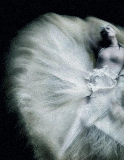 "pradaphne:    Ming Xi in ""Ode Couture"", photographed by Nick Knight for V Magazine #71."