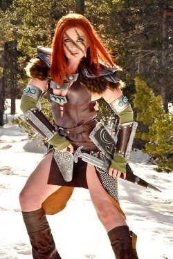 Mel (a.k.a. WindoftheStars) as Aela the Huntress (Skyrim)