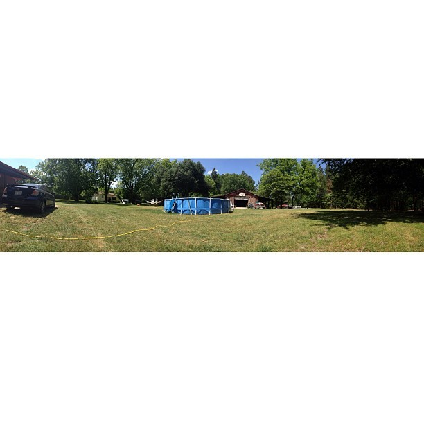 Backyard #home #scion #pool #trees