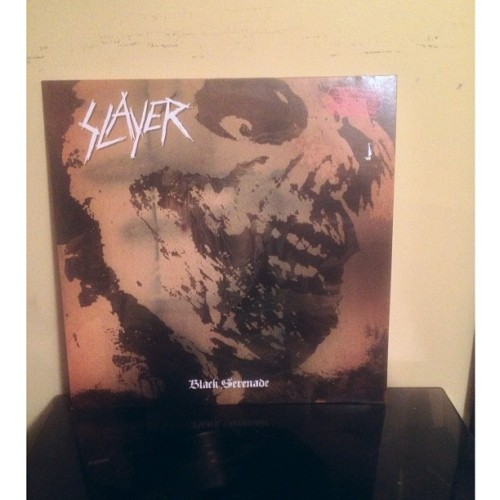 Slayer - Black Serenade a collection of rare tracks and demo recordings. I had never heard Slayer cover Sabbath until now and holy shit I'm so happy #slayer #vinyl #thrashmetal
