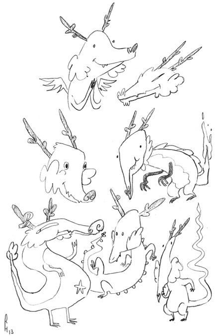 some dragons!