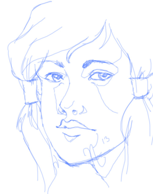 Korra portrait WIP. I should actually finish this one…