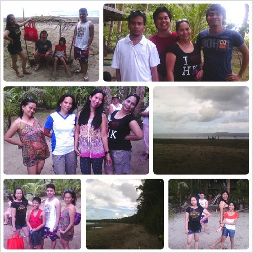 Minsan lang to. #family #bonding #busog #beach #clingy #vain #saya