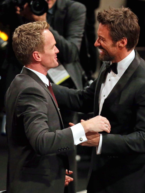 nph-burtka:  Neil Patrick Harris and Hugh Jackman @SAG Awards 2013