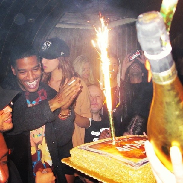 cudinews:  Kid Cudi at Indicud release party in New York - 4.19.13
