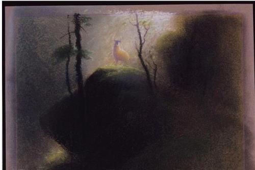 Here's a pastel drawing from the visual development of Bambi by Tyrus Wong.I wish I could draw with pastels like this. Simply breathtaking!