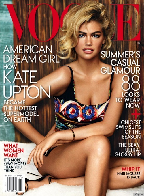 "Kate Upton Covers Vogue, Benefit's Surprise Makeovers, and More Perhaps in a ploy to get more male readers, Kate Upton graces the cover of Vogue for June. [Huffington Post] Nikki Reed partners with 7 For All Mankind on a jewelry line. [SheFinds] Lipstick Queen's new Endless Summer collection has the editors over at Beauty High drooling. [Beauty High] Jennifer Aniston gets on camera for Living Proof to talk candidly about ""The Rachel"" cut with the hairstylist that made her coif so famous. [Living Proof] One woman tried Gwyneth Paltrow's strict diet for 10 days and did not cut corners. Here's how she fared. [The Cut] Looks like Seth Meyers will take over Late Night when Jimmy Fallon moves over to host the Tonight Show. [New York Times] Refinery29 test drives YSL's new Tie & Dye nail polish topcoat. [Refinery29] Benefit lures unsuspecting U.K. residents in to surprise makeovers with a pink ringing telephone booth. And then has them perform karaoke in front of a live audience! [YouTube] —Charisse Get perfectly soft curls with this how-to hairstyle tutorial and Miss Jessie's Jelly Soft Curls.  (Photo: Vogue)"
