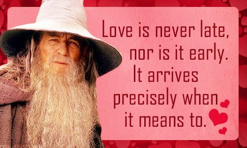Happy Valentine's Day, love Gandalf