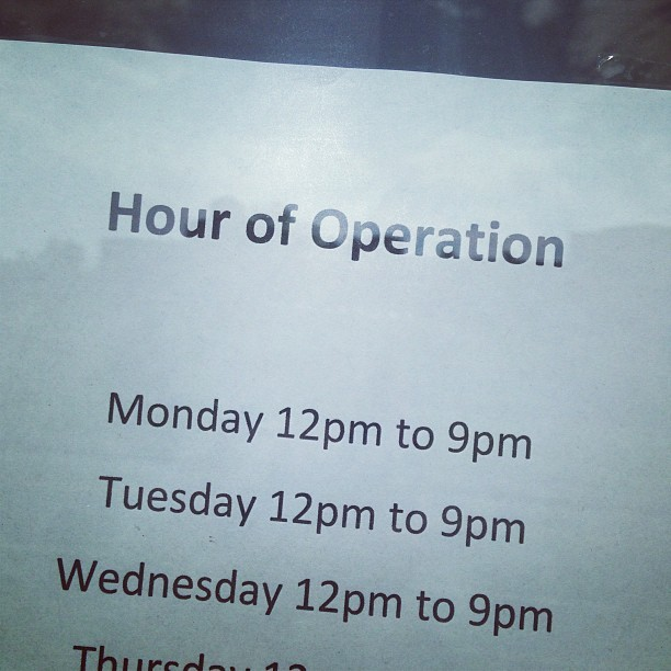 Hour of Operation