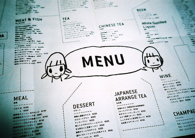 rendermebreathless:  MENU by thezephyrsong_tzs on Flickr.