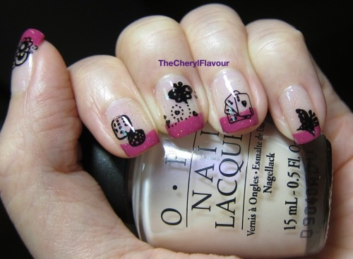 CNY 2013 Manicure! Happy Chinese New Year 2013! Polishes Used: OPI Otherwise Engaged OPI Dim Sum Plum China Glaze Golden Enchanment