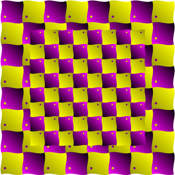 Floating blocks illusion